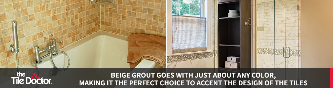 Beige Grout Tile Installations