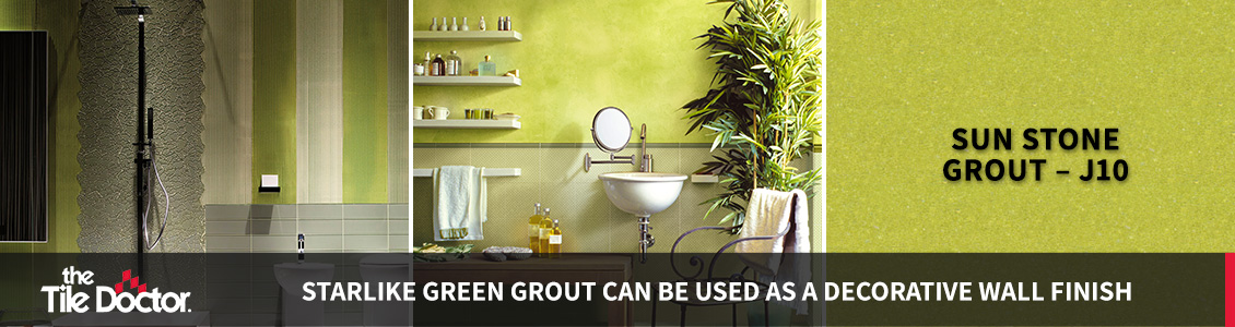 Green Grout Wall Finish