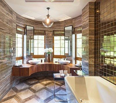 Elegant Brown Bathroom