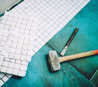 White Tile and Mallet
