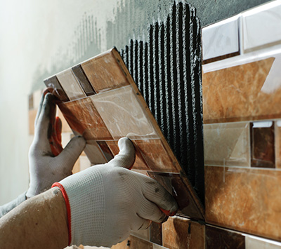 Putting Wall Tile