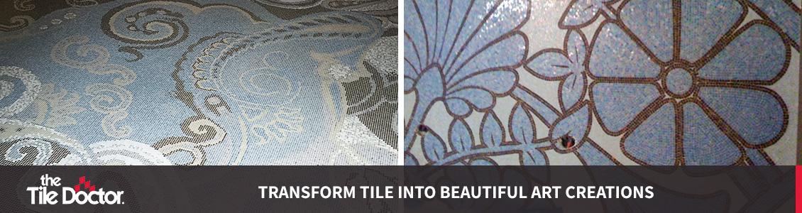 Blue Specialty Tile Floor