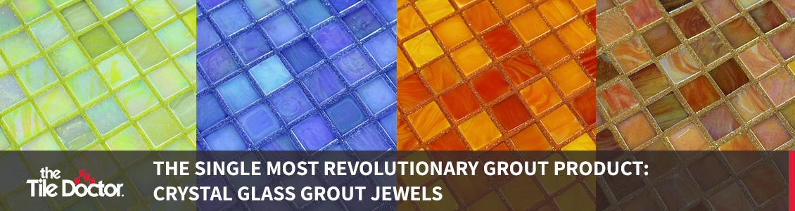 Four Examples of Crystal Glass Grout Jewels
