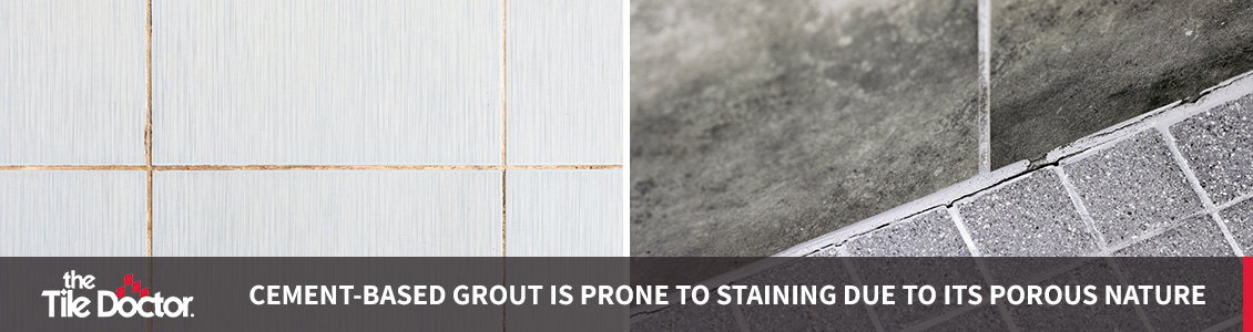Stained Cement-Based Tile Grout