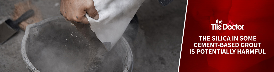 Image of Grout Installers Working with Regular Cement Grout