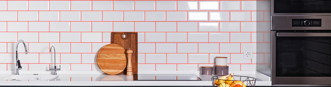 Image of Red Grout Used in Conjunction with More Subtle Tile Colors