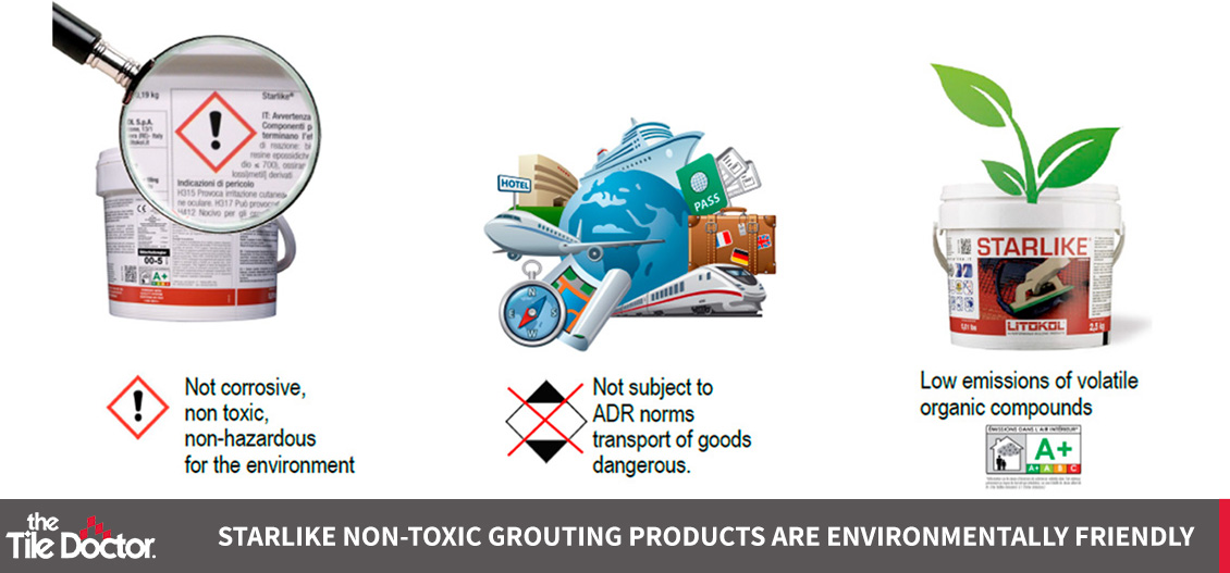 Starlike Non-Toxic Grouting Products are Environmentally Friendly