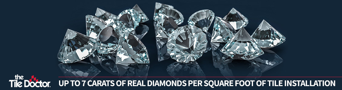 7 Carats of Real Diamond by Square Foot of Tile Installation