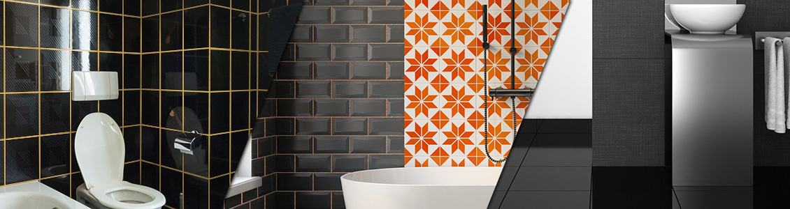 Picture of Tile Walls with Colored Grout