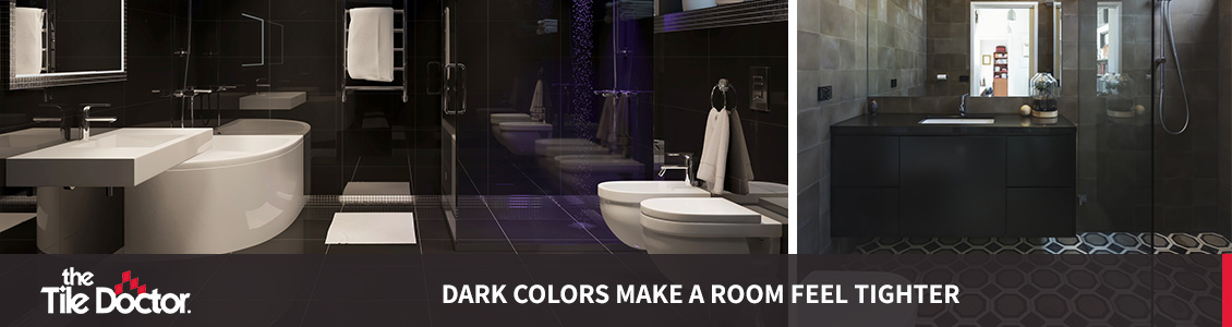 Modern Dark Grout and Tile Bathrooms