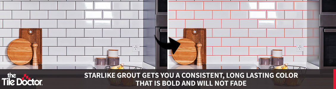 Regrout Black Grout to Orange Grout