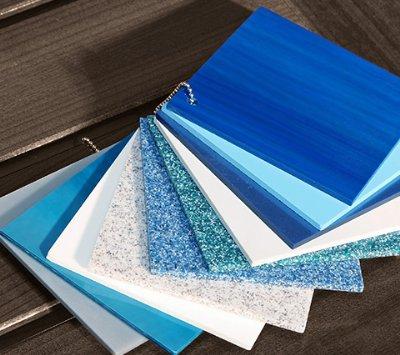 White and Blue Tile Samples