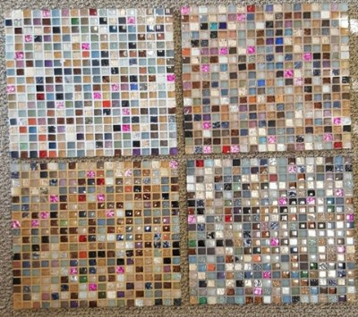 Samples of Colored Mosaic Tiles