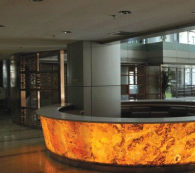 Translucent Stone Panel for Reception