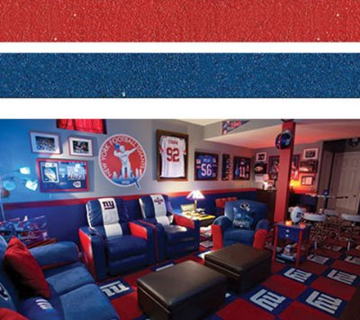 Red and Blue Sports Inspired Room