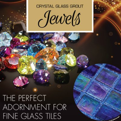 Crystal Glass Grout Jewels Options for Glitter Grout