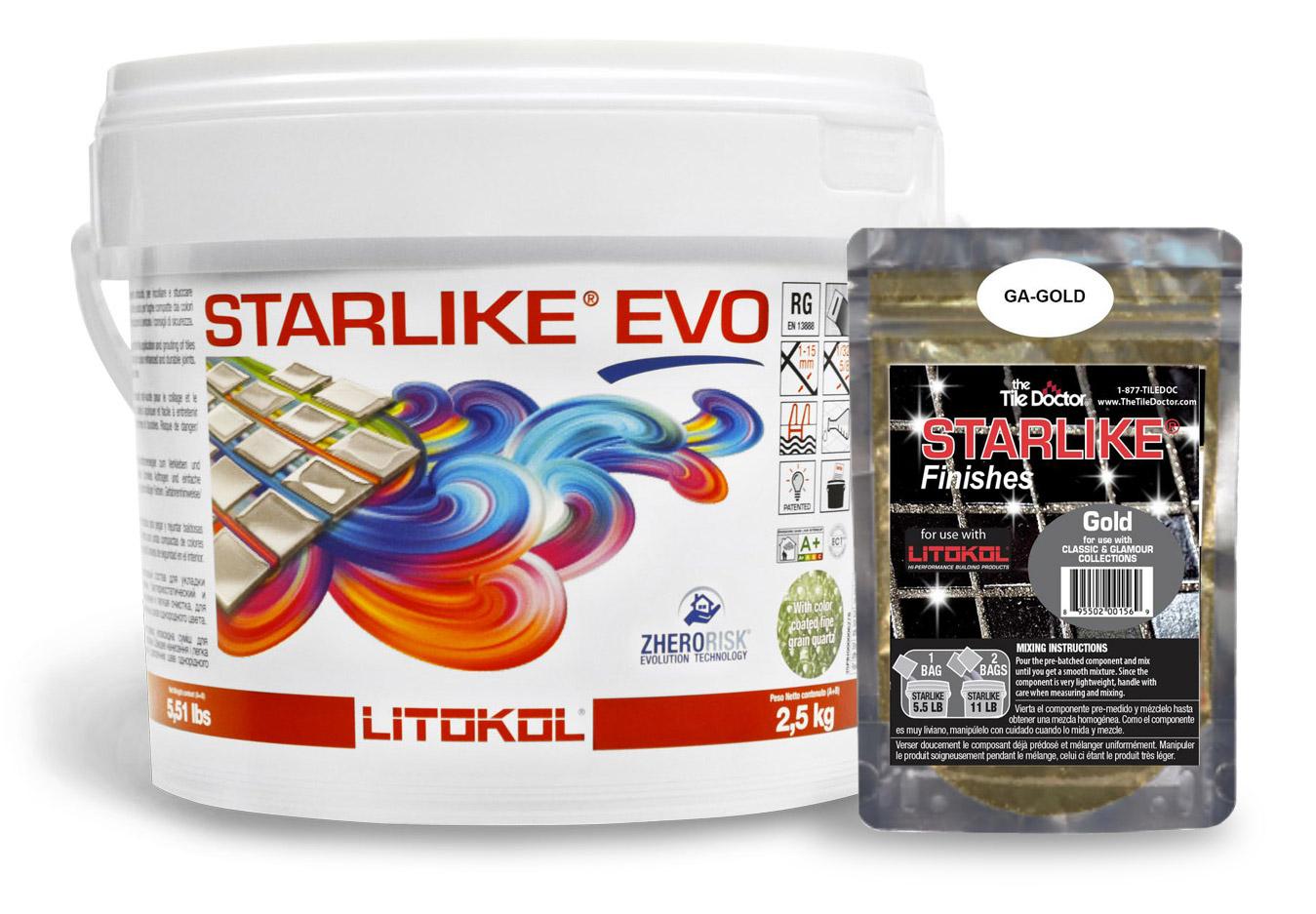 Starlike EVO Classic Grout + Gold Additive